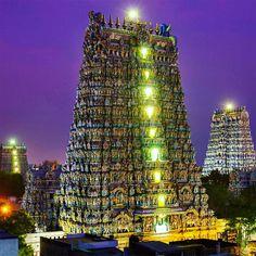 Admirez le temple indien de Mînâkshî dont les superbes couleurs n'ont d'égal que l'immensité de l'architecture | SooCurious