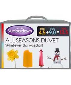 Slumberdown All Seasons 4.5   9 Tog 3-in-1 Duvet - Single.