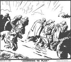 Caricature de David Low paru dans le Evening Standard le 4 février 1943