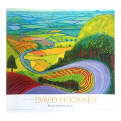 View Garrowby Hill by David Hockney on artnet. Browse more artworks David Hockney from ArtWise. David Hockney Prints, David Hockney Art, David Hockney Paintings, David Hockney Landscapes, Landscape Art, Landscape Paintings, Framed Art Prints, Fine Art Prints, Framed Wall