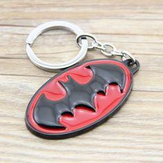 Classic Batman Logo Key Chains Zinc Alloy Keychains Pendant Key Rings Charm Keyrings Keyfobs For Boys Gift KT123