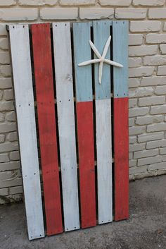 Southern State of Mind: Summer Pinterest Challenge- Nautical American Flag Pallet