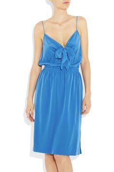 DKNY: stretch-silk crepe de chine dress