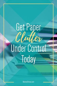 Paper Clutter Organization - Get Control Of Your Paperwork - Declutter Paperwork Quickly Organizing Paperwork, Clutter Organization, Small Space Organization, Home Organization Hacks, Organizing Ideas, Bullet Journal Cleaning Schedule, Paper Clutter, Declutter Your Home, Time Management Tips