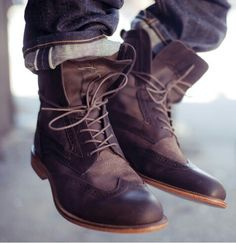 Oxford inspired boots