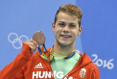 The moment of victory - Hungarian swimmer Tamás Kenderesi with his bronze medal in men's 200 m butterfly - Olympic Games, Rio de Janeiro Rimmel, Olympic Games, Victorious, Swimming, Butterfly, In This Moment, Sports, Bronze, Rio De Janeiro