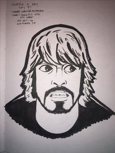 I haven't done a proper portrait in a little, so I went with the man, the legend, Dave Grohl! This man is king! Sketch a day, day 71. Inktober 26. @foofighters #foofighters #nirvana #davegrohl #ink #inktober #inktober2016 #sketch #sketchaday #draw #drawing #illustration #portrait #art #artistsoninstagram #fanart @inktober #rocklegend #rock #rocknroll #kingofrock