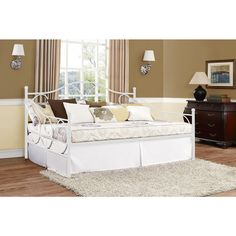 DHP Victoria Full Size White Metal Daybed | Overstock.com Shopping - The Best Deals on Beds