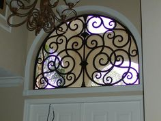Faux Wrought Iron Arched Window Insert. by tvonschimo, via Flickr
