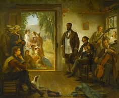 Thomas Hicks, 'An impromptu Concert in the Barbershop of a Summer Resort in Upstate New York, 1866'