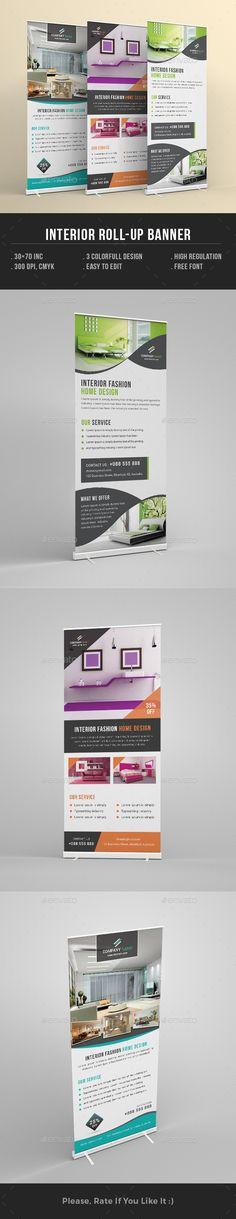 Interior Design Rollup Banner Template PSD. Download here: http://graphicriver.net/item/interior-design-rollup-banner/16680936?ref=ksioks