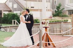 Great Harbor Yacht Club -- Dinner & Dancing [note: there is a canon at sunset -- please do not include bride/groom illustration] Black Tie Wedding, Floral Wedding, Nantucket Wedding, Yacht Club, Bride Groom, Wedding Inspiration, Couples, Wedding Dresses, Canon