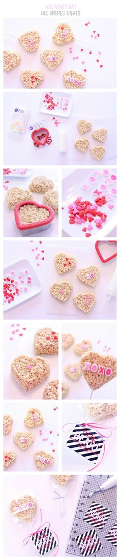 Create the cutest rice krispies treats for Valentine's Day! | DIY from Kim Byers | Valentine Crafts