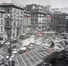 Piazza Barberini in the 50s - come see it now #trevifountaingh