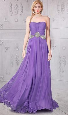 Flowing Strapless Long Lavender Chiffon Beaded Prom Dress Prom Dresses For Sale, Formal Evening Dresses, Formal Gowns, Evening Gowns, Strapless Dress Formal, Lavender Prom Dresses, Petite Bridesmaids Dresses, Purple Dress, Beaded Prom Dress