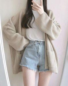 - k-fashion - Etsy Korean Girl Fashion, Korean Fashion Trends, Korean Street Fashion, Ulzzang Fashion, Korea Fashion, Fashion Guide, Ulzzang Style, Korean Fashion Summer, India Fashion