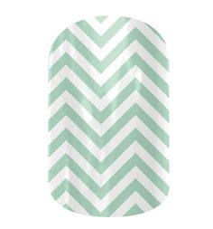 Mint green chevron nails