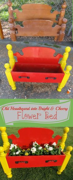 So cute!  What a neat idea to recycle that ol headboard into something so cure and different!