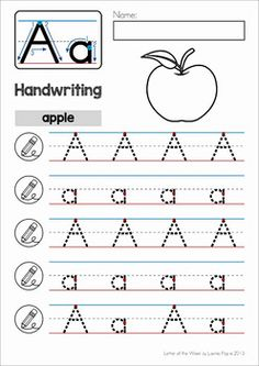 Alphabet Handwriting Practice: Upper and Lower Case Letters by Lavinia Pop Letter Worksheets For Preschool, Writing Practice Worksheets, Alphabet Tracing Worksheets, Printable Alphabet Letters, Handwriting Alphabet, Alphabet Writing, Preschool Writing, Preschool Letters, Alphabet Worksheets