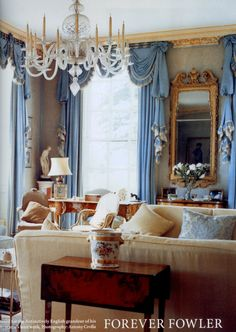 Drawing Room at Cornbury Park of Lady & Lord Rotherwick by the great John Fowler. Published Dec 2008 World of Interiors