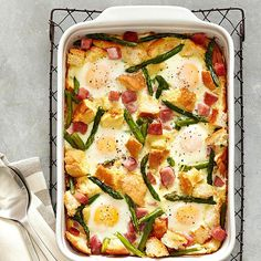 Ham, Asparagus and Cheese Strata (Easter Recipes: 20+ Egg-citing Ideas)