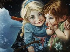 Frozen Walt Disney Fine Art Heather Edwards Signed Limited Edition of 195 on Canvas