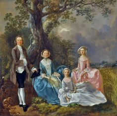 Thomas Gainsborough (1727-1788) Mr and Mrs Carter, c.1747–8       Thomas Gainsborough (1727-1788) Conversation in a Park - Self Portrai...