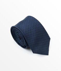 Better Fellow James Textured Navy Blue Silk Men's Fashion Slim Tie
