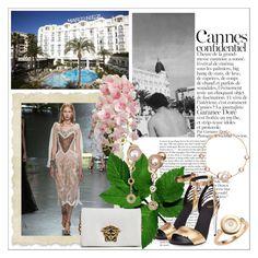 """Annabel's & Chopard Party"" by larinhacarter on Polyvore featuring moda, Rodarte, Versace, Fendi, Chopard e Cannes2017"