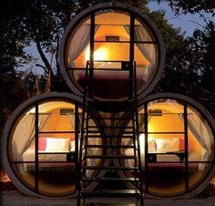Hotel feito de Tubos - TuboHotel - México
