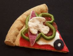 Felt Food - Felt Pizza Slice - Pretend Play Food - Slice of Pizza. $11.99, via Etsy.