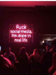 truth F*ck social media, im dope in real life<br> Neon Aesthetic, Quote Aesthetic, Aesthetic Vintage, Words Quotes, Life Quotes, Sayings, Attitude Quotes, Neon Quotes, Neon Words