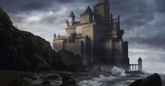 Castle with a view of the sea, Julien Gauthier on ArtStation at https://www.artstation.com/artwork/castle-with-a-view-of-the-sea