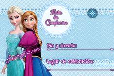 Invitaciones de Cumplaños Elsa y Anna para descargar gratis