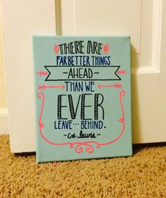 "Cs lewis canvas, ""far better things"""