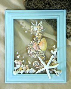 Nautical Wall Art for Babies Room  Seahorse Shell Wall Art for Beach  Bathroom  SeashellSea Glass Art for Holiday Decor  Christmas in July  Nautical  . Nautical Wall Decor For Bathroom. Home Design Ideas