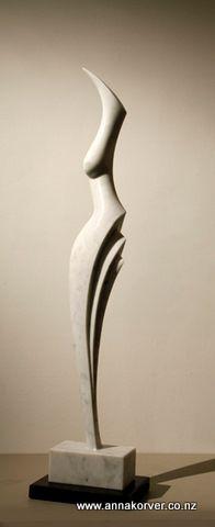 Marble figure 2 - Carrara marble  - Anna Korver
