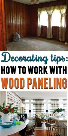Learn how to disguise or decorate around dark wood paneling!