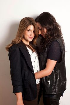 Elise Bauman and Natasha Negovanlis as, Laura Hollis and Carmilla Karnstein