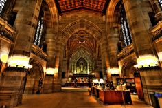 The library at Yale University.