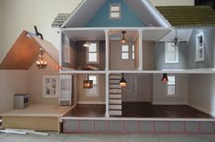 DIY Dollhouse Lighting, round wire miniature lighting