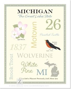 Michigan State Pride Series 11x14 Poster by AsYouWishPrinting, $19.50