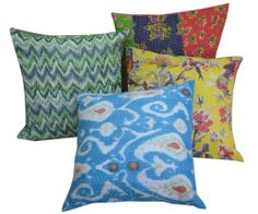 Wholesale Lot 10pc Kantha Cushion Cover Cotton Pillow Covers Handmade India #Handmade