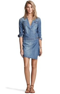Stanton Dress   A vintage look with typical denim details   hunkydory.com