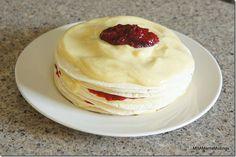 Raspberry and Vanilla Custard Dempster's Tortilla Dessert
