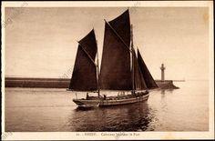 Dundée caboteur quittant le Port de commerce de Brest