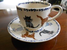 Emma Bridgewater Cats teacup and saucer