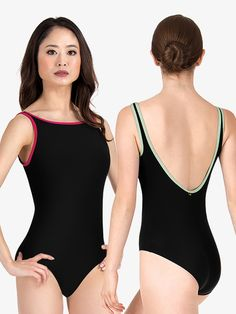 Exceptional quality and remarkable style. This tank leotard from Mariia's Class Essentials collection features a higher neckline, a flattering scoop back, and contrasting trim. Ballet leotard has front lining for extra support. Dance Outfits, Ballet Outfits, Ballet Clothes, Dance Leotards, Dance Costumes, Dance Wear, Female Bodies, Autumn Fashion, Summer Outfits