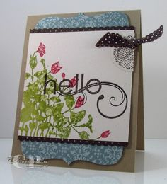 My Friend...watercolored! **** a beautiful SU card by Catherine Pooler with a how-to video on her blog .