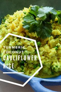 turmeric coconut cauliflower rice